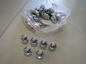 Wheel Lug Nut-Lug Nut Cap - Chrome GM OEM 12499427. Kit of 6 PCS.