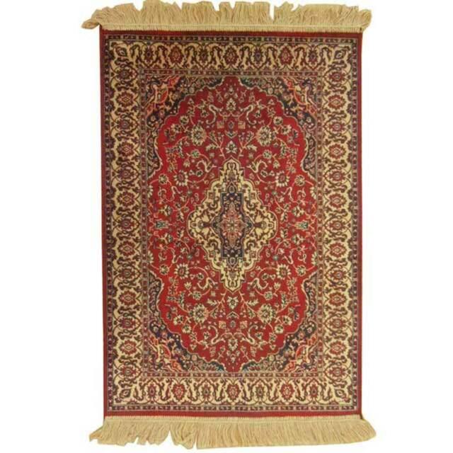 Hallway Runner Carpet Rug Red 68cm x 105cm Viscose Chiraz 9099-12 Persian Thin