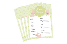 Bunny Prediction Cards Baby Shower A6 Cute Mummy To Be New Baby PACK OF 10