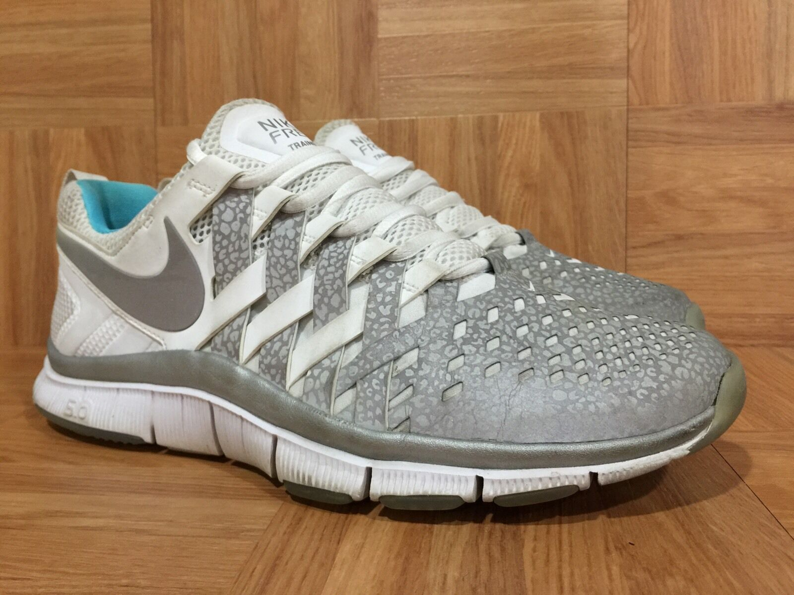 RARE Sample Nike Free Trainer 5.0 V4 Reflective Silver Gamma bluee Ice McFly 10