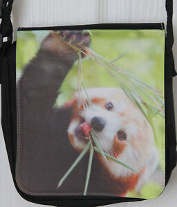 Small-Shoulder-Bag-with-Red-Panda-photo-print-Free-UK-postage