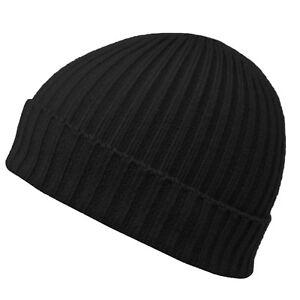 Knitted-Lanudo-Invierno-Calido-para-hombre-Cable-de-punto-de-las-Senoras-Polar-Beanie-Bobble