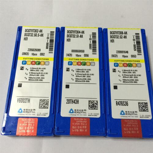 30pcs Korloy DCGT32.52-AK H01+DCGT32.51-AK H01+DCGT32.50.5-AK H01 Free Shipping