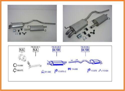 Système d/'échappement VW Multivan t5 1.9 TDI du Silencieux concernerait Silencieux