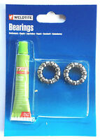 Weldtite Bike-Cyle-Bicycle Front - Rear Wheel Hub Caged Bearings