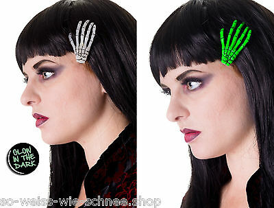 Banned Haarclip Zombie Skeleton Hands Gothic Rockabilly Hairclips Haarspange