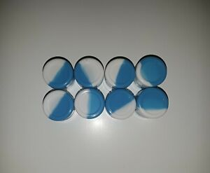 Silicone-Container-Silicone-Jar-2ml-8-PIECES-BLUE-WHITE-USA-SELLER