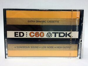 TDK-ED-C60-BLANK-AUDIO-CASSETTE-TAPE-NEW-RARE-1973-YEAR-JAPAN-MADE