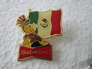 1984-LOS-ANGELES-Olympics-MEXICO-BUDWEISER-BEER-WITH-LA-MASCOTTE-pin-BADGE