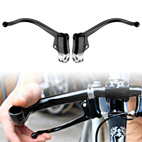 Road Bicycle Fixed Gear Bike Brake Levers Steel Pipe Bent Brake Levers  Cycling