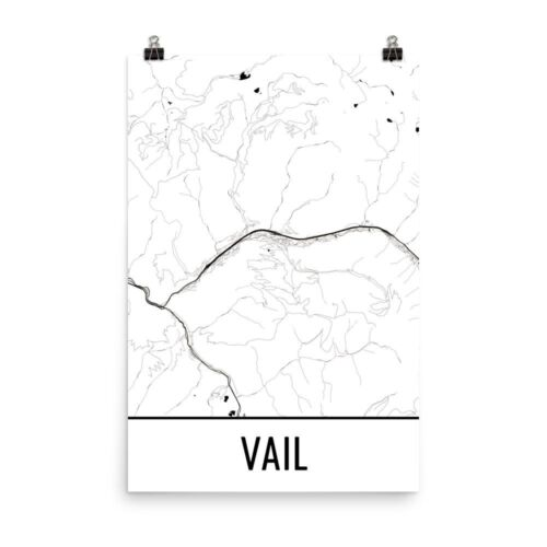 Vail CO Street Map Poster