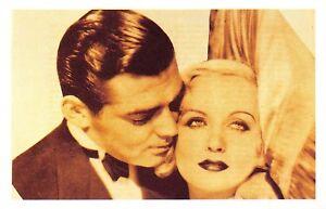 Nostalgia-Postcard-Carole-Lombard-amp-Clark-Gable-1939-Reproduction-Card-NS43