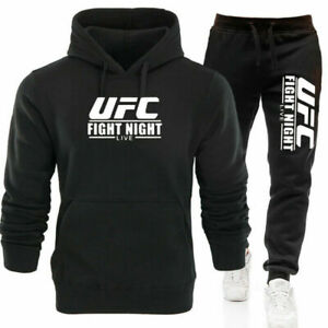 UFC Hoodie New Fashion Sweatshirt Jacket Sporty Suit Set Coat Tops Pants for Fan