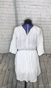Magali Pascal pintuck white cotton dress Size small