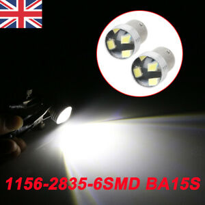 10x-White-1156-BA15S-6-SMD-LED-P21W-COB-Car-Reverse-Turn-Tail-Light-Bulbs-UK