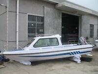 Brand 17.7' Fiberglass Boat For 8 Person Free Shipped By Sea