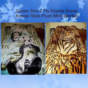 New Queen 2ply Korean Style Panda Bears Tiger Animal