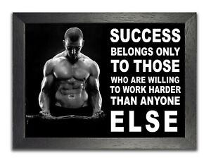 BODYBUILDING INSPIRATIONAL MOTIVATIONAL QUOTE A3 POSTER PRINT WORK UNTIL YOUR