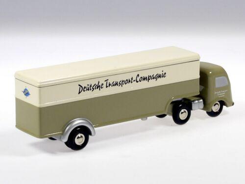 """Schuco PICCOLO MERCEDES VALIGIA autoarticolati /""""Deutsche compagnie di trasporto/"""""""