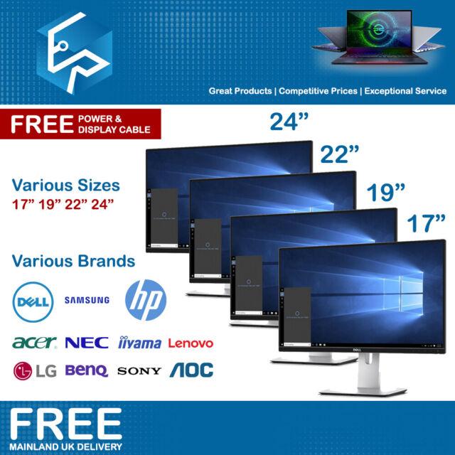 """Cheap LCD Monitor 17"""" 19"""" 22"""" 24"""" PC Screen CCTV Dell HP Samsung TFT Monitors"""