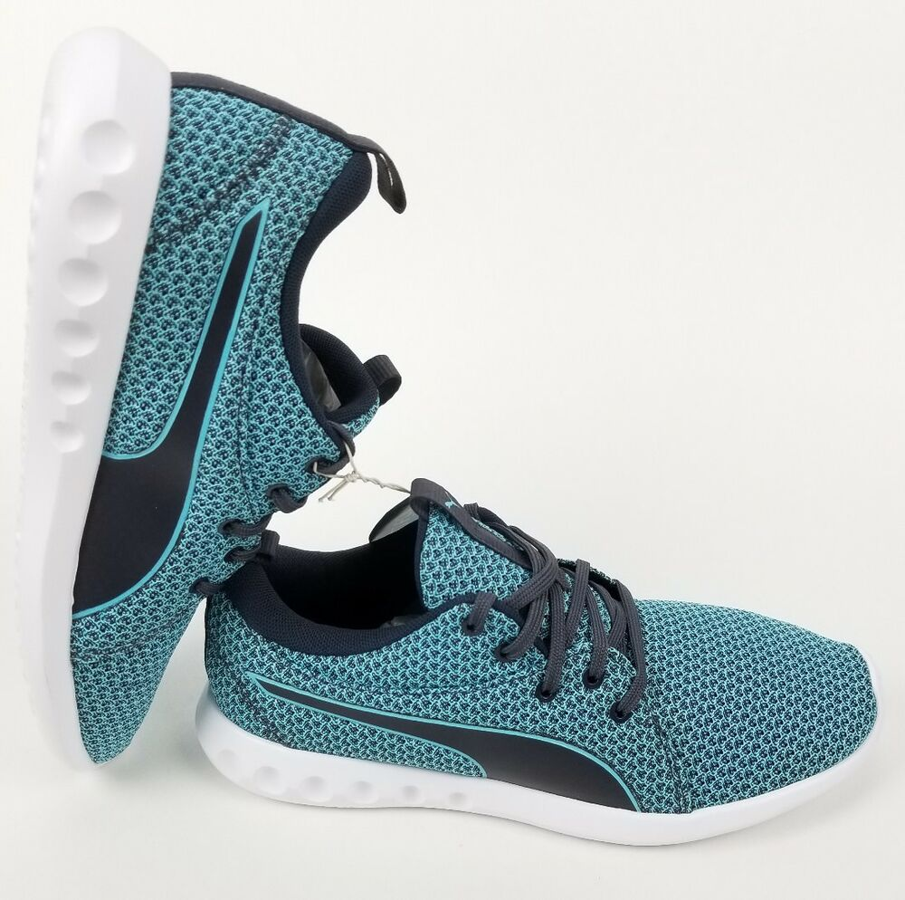 PUMA Carson 2 Femme 19004101 NEW, Taille 6.5 Periscope Turquoise. Knit