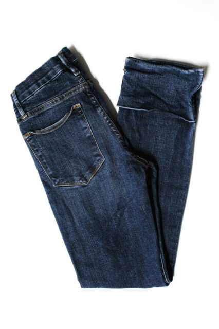 Frame Denim Womens High Rise Straight Leg Ardmore Jeans Blue Cotton Size 24