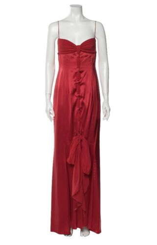 Valentino 100% Silk Gown Dress IT42 US6 Stunning!