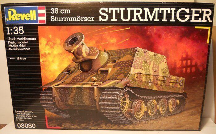 New 1 35 Revell Plastic Kit No 03080 38cm Sturmmorser Sturmtiger (Storm Tiger)