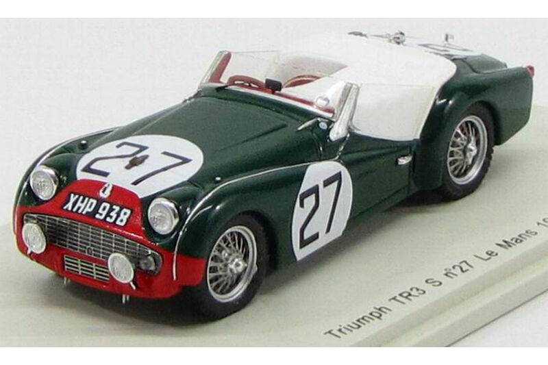 TRIUMPH TRIUMPH TRIUMPH TR3 S 27 Le Mans N. Sanderson-C. DUBOIS 1959 1 43 Spark S1397 c6b978