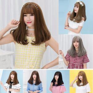 Image Is Loading Cute Long Straight Hair Korean Girl Women Bobo