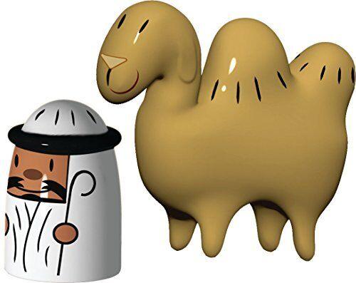 Alessi Amir et Camelus décoré à la main figurine en porcelaine Lot de 2