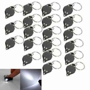 10 pcs Bright Portable Mini Key chain LED Light Lamp Key Ring Flashlight