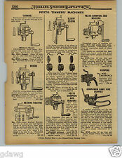 1929 PAPER AD 9 PG Tin Tinners' Worker Tools Pexto Beading Machine Crimper Brake