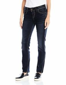 droite Fit jambe Co Relaxed haute taille mi Elyse Silver pour femmes Jeans Iq7wz