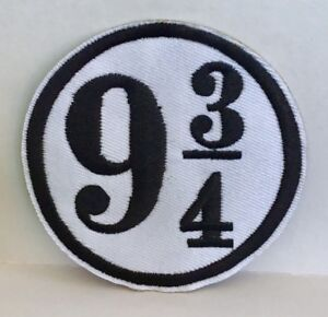 Harry-Potter-Plate-forme-9-3-4-brode-Appliques-Patch-A-Coudre-ou-Fer-Wizard-38