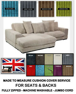 MADE-TO-MEASURE-CUSHIONS-0R-COVERS-JUMBO-CORD-FOR-DOMESTIC-amp-GARDEN-FURNITURE
