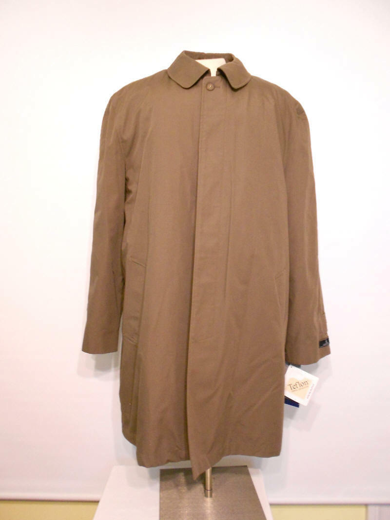 New with Tags LONDON FOG Single Breasted Classic Poplin Rain Coat Größe X-Large