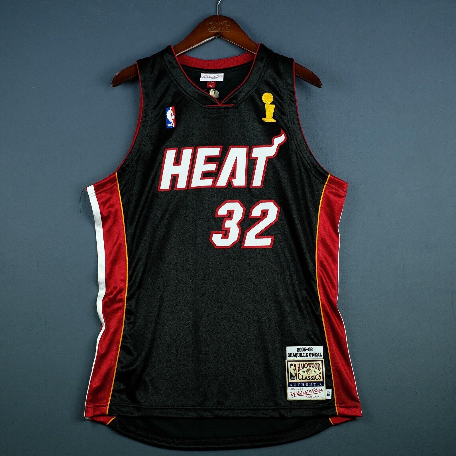 100% Authentisch Shaquille O'Neal Mitchell Ness 05 06 Heat Finals Trikot    Online einkaufen