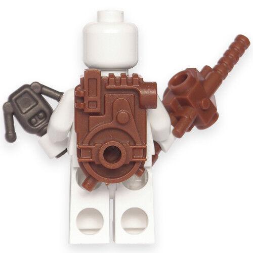 Custom Ghostbusters uniform minifigures on lego brand bricks