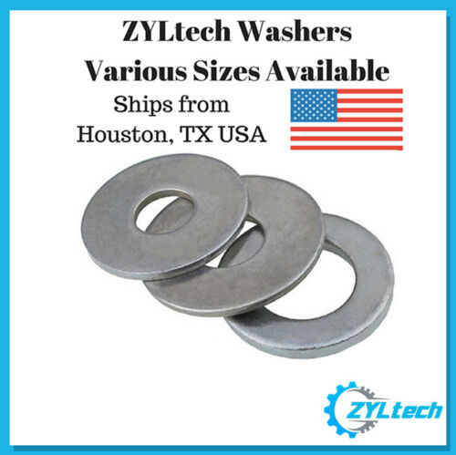 M8x18x1.2 M5x10x1 M4x10x1 100x ZYLtech Flat Washers- M3x7x0.5