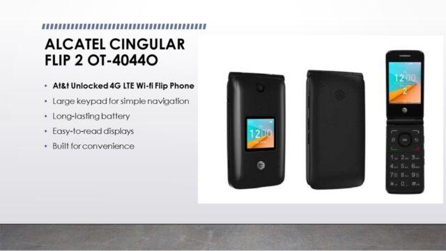 sports shoes 91db0 baee9 At&t Cingular Flip 2 4gb Cell Phone Alcatel