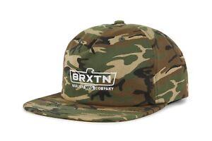 NWT-Brixton-Mens-Cruss-Snapback-Cap-HAT-OSFM-Men-039-s-Adjustable-Camo-BX100