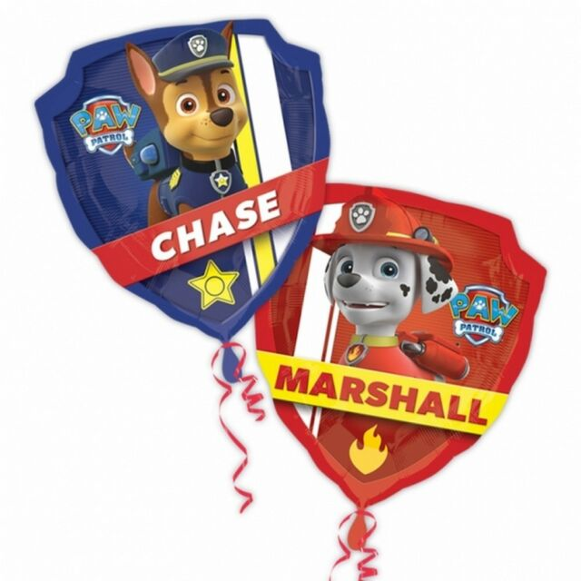 R19F13 XL Paw Patrol Chase Helium Folienballons Hund Kinder Geburtstag balloon