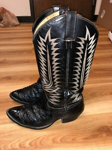 Men-s-Cowboy-Western-Boots-Snake-Exotic-Size-8-5