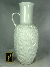 Unusual 70´s design Wunsiedel  Porzellan  glazed relief porcelain vase 30 cm