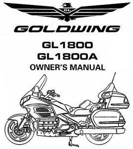 2003 Honda Goldwing Gl1800 Gl1800a Motorcycle Owners Manual Gl1800 Gold Wing Ebay