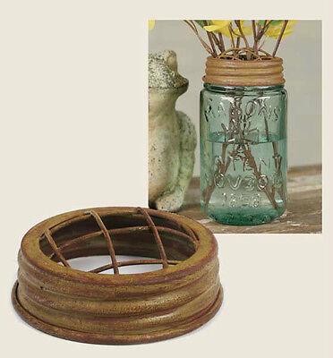Primitive/Farmhouse/Cottage/Country Mason Jar Flower Frog Lid – U CHOOSE COLOR
