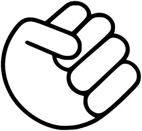 Fist Main Autocollant OEM JDM Fun sticker décalque en 10cm!