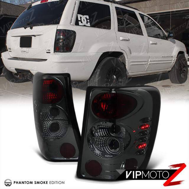 [SMOKE LEFT+RIGHT] 99-04 JEEP Grand Cherokee Laredo Limited Brake Tail Light LED