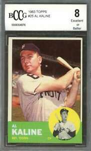 Al-Kaline-Card-1963-Topps-25-Detroit-Tigers-BGS-BCCG-8